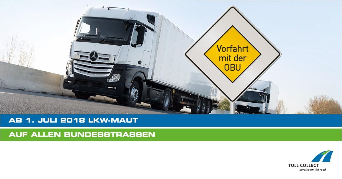 Ausweitung der Lkw-Maut auf alle Bundesstraßen